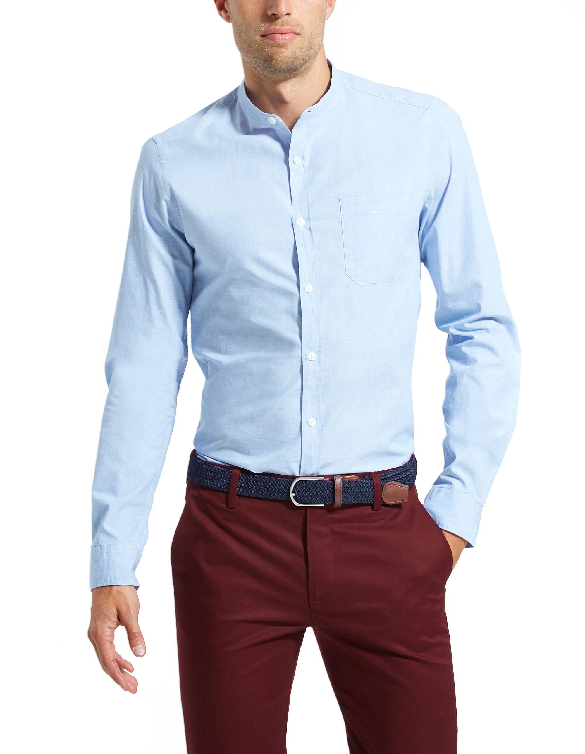chemise col mao on la porte avec tous les styles de pantalons. Black Bedroom Furniture Sets. Home Design Ideas